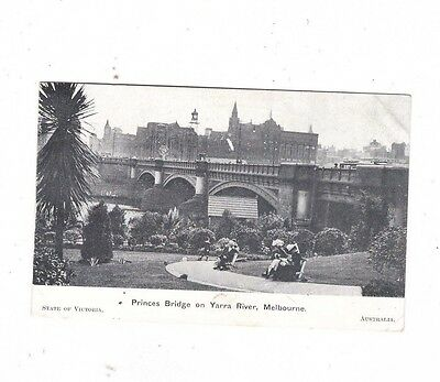 Australia VICTORIA Postcard, PRINCES BRIDGE on YARRA RIVER, MELBOURNE