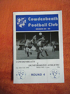 Cowdenbeath v Dumfermline Athletic 1990 February 24 Tennets Scotish Cup Round 4
