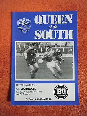 Queen of the South v Kilmarnock 1990 March 13th B&Q Scottish Division Two