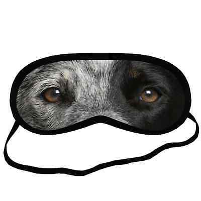 AUSTRALIAN CATTLE EYES Dog Puppy Lovers Small-Med Size Black SLEEPING MASK Gift