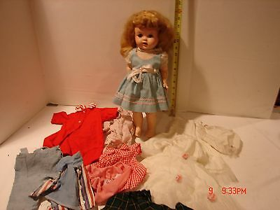 Vintage Ideal Doll W 16 Saucy Walker Open Mouth 16 Inch Handmade Clothing Dress