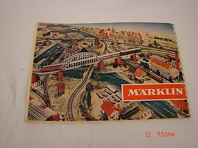 Vintage Marklin Car Train Railroad Ho Gauge Layout Booklet Book Catalog German