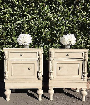 Pair of French Style Vintage Bedsides Bedside Tables Cabinets