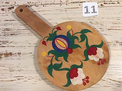 Vintage 70s Hand Painted Wood Cutting Breadboard Russian art No.11