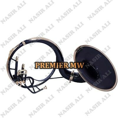 """Sousaphone Small Bell 21"""" Bell Black Lacquered B-Flat With Free Carry Bag And Mp"""