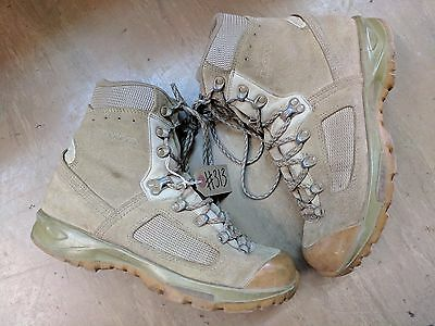 Original British Army Issue Leather Lowa Desert Combat Boots Size 8 UK #313