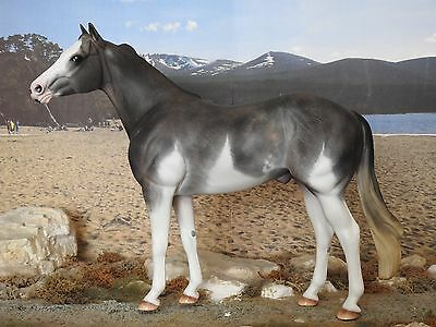 Cm Custom Breyer Traditional Bandera Painted To A Grey Roan Paint