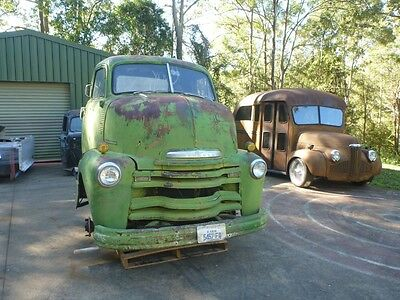 1950 Chevy COE cabover pickup rare patina suit Ford F100 F1 hotrod ute builder