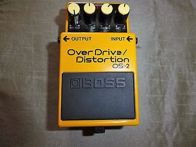 Boss Overdrive Distortion Os-2 Pedal