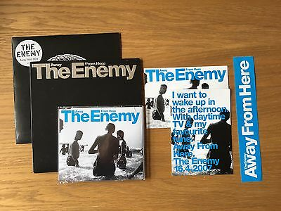 """THE ENEMY Away From Here 7"""" Single No 1928 Stiff Records 7"""" CD Single +Postcards"""