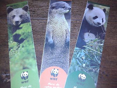 Lot de 3 marque-page animaux WWF Collection ours panda...