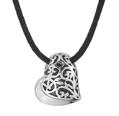 Celtic Eclipse Heart Cremation Urn Pendant Necklace Ashes Jewellery -  Engraving
