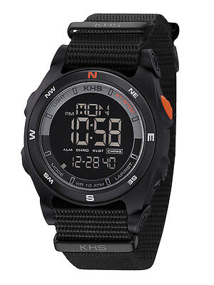 KHS Tactical Watches Sentinel DC Digital Compass Alarm Chronograph KHS.SEDCB.NB