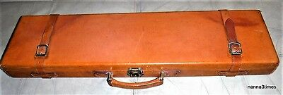 Vintage 'GUNMARK' Leather Shotgun Carrying Case + 2 Cleaning Rods + Brush