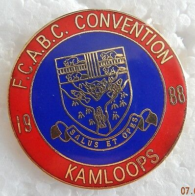 FCABC 1988 Firefighters Convention Pin  (A)