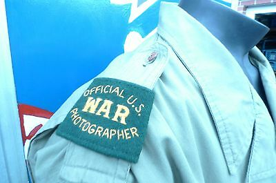 OFFICIAL US WAR PHOTOGRAPHER WW2 - Epaulettes