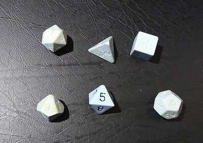 Vintage Role Playing Dungeons & Dragons Dice Blue Set From Moldvay Box Set