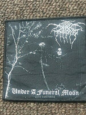 Darkthrone Under a Funeral Moon patch original peaceville RARE