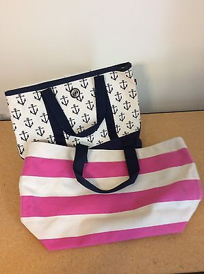 Lot Of 2 Tommy Hilfiger Canvas Tote Bags