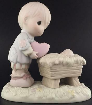 Precious Moments 1995 I'll Give Him My Heart 150088 Figurine Baby Jesus