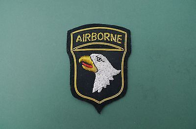 Us Army - 101St Airborne Screaming Eagles  - Bullion Shoulder Patch - Ww2