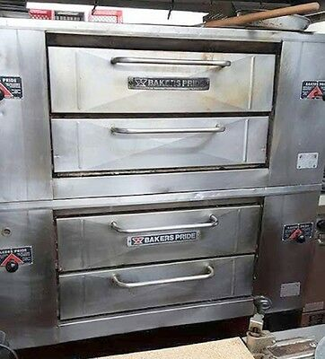 "60"" Bakers Pride 805 Pizza Ovens Stones 2 Deck Double Stack Tech Tested Warranty"
