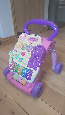 Vtech First Steps Baby Walker Learning Musical Toy Pink