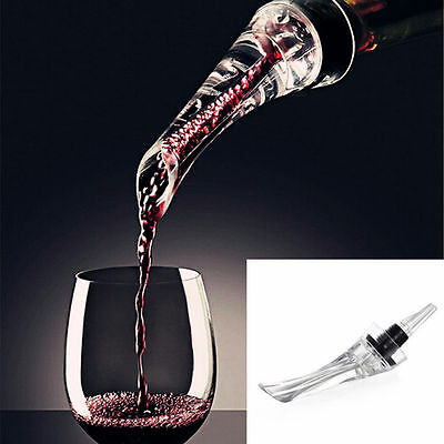 Red Wine Bottle Aerator Decanter Aerating Pourer Spout Bar Accessory Set *H