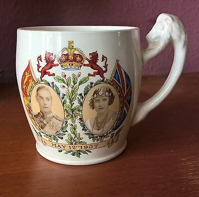 Thomas Goode & Co George Vi Commemorative Mug 1937 - Lion Handle