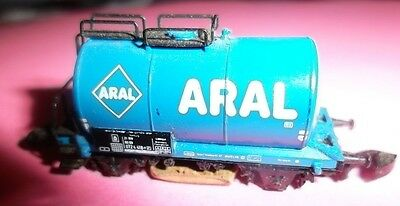 Z Scale Marklin Aral Tanker With Track Cleaning Attatchment  VGC