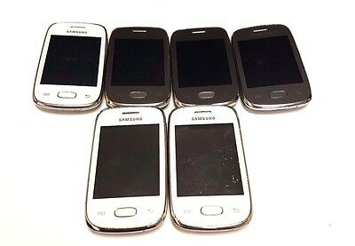 6 Lot Samsung Galaxy Pocket Neo S5310 GSM For Parts Repair Used Wholesale As Is