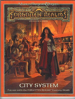 CITY SYSTEM AD&D TSR 1040 Forgotten Realms Price Inc Del in UK