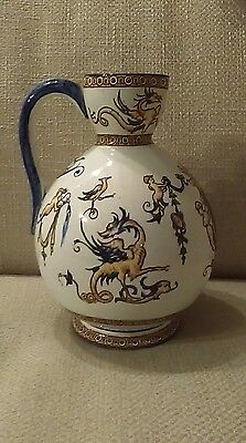 ANTIQUE Gien TALL FAIENCE JUG/PITCHER