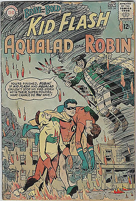 Brave and the Bold #54 (1964 DC) 1st App Teen Titans, Bob Haney, Premiani, G/VG-