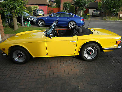 TRIUMPH TR6 YELLOW 1973 UK car (this one is a bit special)