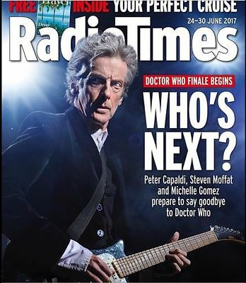 Doctor Who PETER CAPALDI PHOTO COVER INTERVIEW RADIO TIMES MAGAZINE JUNE 2017