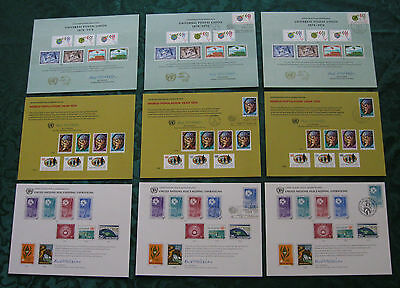 35 United Nations Postal Administration  Cards Which  Include 20 Cancelled Cards