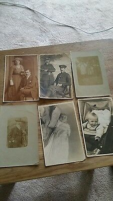 Six Antique Real Photo Postcards