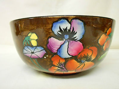 Vintage Carona Ware Hancock & Sons Hand Painted Autumn Bowl