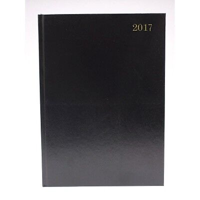 2017 Diary A4 Black - Day per page