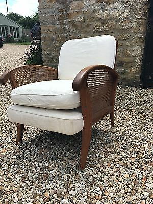 Stunning Bergere caned two seater sofa and matching  chair.
