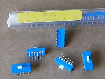 5 Slide Switch 4PDT 115VAC 300mA/AC TE Connectivity ALCOSWITCH ASE42 USA Made