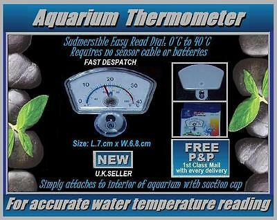 Aquarium Submersible Index Thermometer: Easy To Read: Fix To Inside Of Fish Tank