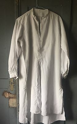 Vintage French Patched linen  shirt