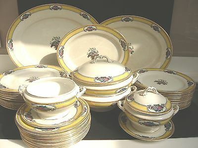"Antique Wedgwood & Co Imperial Porcelain ""Diana"" Dinner Service 45 Pieces"