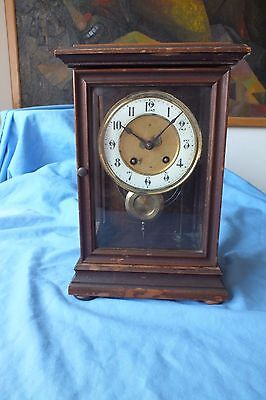 Antique H.a.c 8 Day Mantel Clock