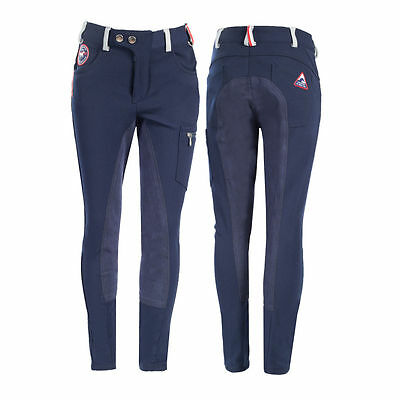 Horze Mackenzie Kids Full Seat Cargo Breeches Horse Riding