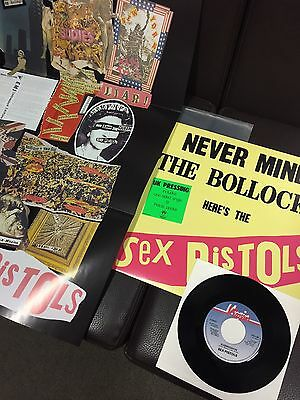 "SEX PISTOLS Never Mind The Bollocks SPOTS001 LP & 7"" & POSTER RARE 2004 REISSUE"