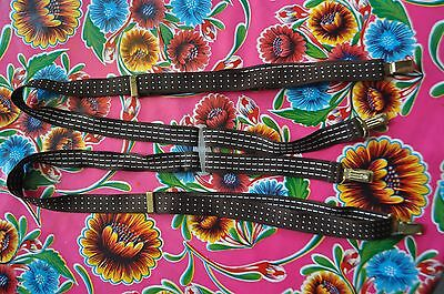 Vintage tiny spot braces suspenders with clip fastening mod
