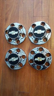Four 1992-99 Chevrolet 1500 Pickup Truck Van Chrome  Used OEM Center Caps 46282